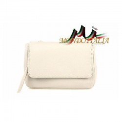 Kožená kabelka 9006 béžová MADE IN ITALY