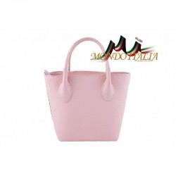 Kožená kabelka 93 ružová MADE IN ITALY 93