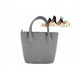 Kožená kabelka 93 šedá MADE IN ITALY 93