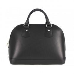 Kožená kabelka do ruky 1203 čierna, Čierna