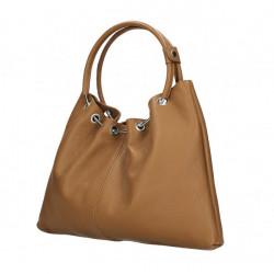 Kožená kabelka do ruky 1458 tmavomodrá MADE IN ITALY Modrá #2