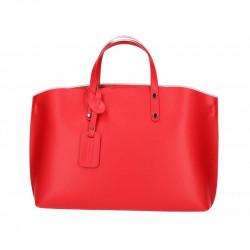 Kožená kabelka do ruky 5304 červená, červená