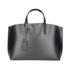 Kožená kabelka do ruky 5304 čierna, čierna