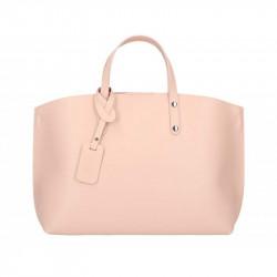 Kožená kabelka do ruky 5304 ružová, ružová