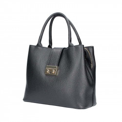Kožená kabelka do ruky 5307 čierna, čierna