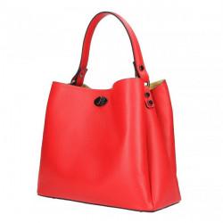 Kožená kabelka do ruky 5321 červená, Červená