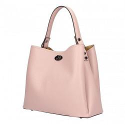 Kožená kabelka do ruky 5321 ružová, Ružová