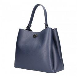 Kožená kabelka do ruky 5321 tmavomodrá, Modrá