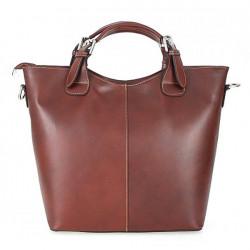 Kožená kabelka do ruky 69 hnedá, Hnedá