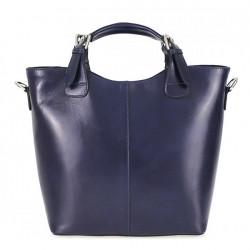 Kožená kabelka do ruky 69 modrá, Modrá