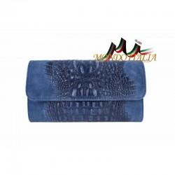 Kožená kabelka kroko štýl 1251 jeans MADE IN ITALY 6b61b864bbb