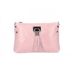 Kožená kabelka MI42 ružová Made in Italy Ružová