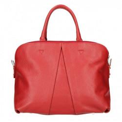 Kožená kabelka MI87 červená Made in Italy Červená