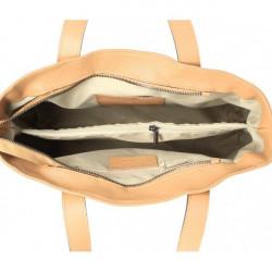 Kožená kabelka MI97 biela Made in Italy Biela #1