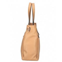 Kožená kabelka MI97 biela Made in Italy Biela #3
