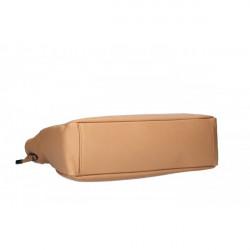Kožená kabelka MI97 biela Made in Italy Biela #5