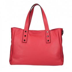 Kožená kabelka MI97 červená Made in Italy Červená