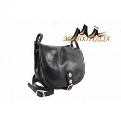 Kožená kabelka na rameno 10 čierna MADE IN ITALY 10