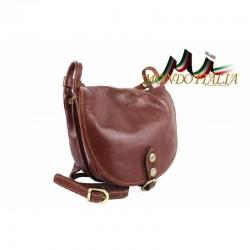 Kožená kabelka na rameno 10 hnedá MADE IN ITALY 10