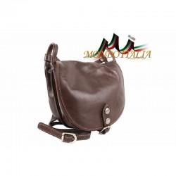 Kožená kabelka na rameno 10 tmavohnedá MADE IN ITALY 10