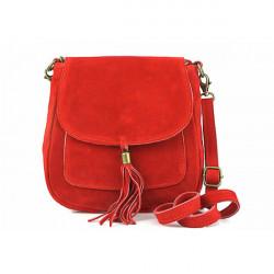 Kožená kabelka na rameno 1147 červená, Červená