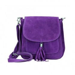 Kožená kabelka na rameno 1147 fialová Fialová