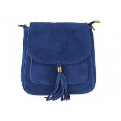 Kožená kabelka na rameno 1147 jeans, Modrá