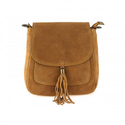 Kožená kabelka na rameno 1147 koňaková, Koňak
