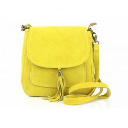 Kožená kabelka na rameno 1147 žltá, Žltá