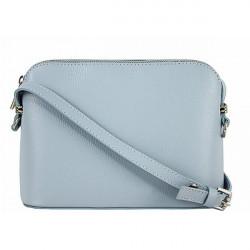 Kožená kabelka na rameno 1310 nebesky modrá, Nebesky modrá