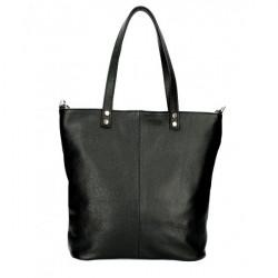 Kožená kabelka na rameno 165 čierna MADE IN ITALY Čierna