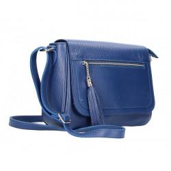 Kožená kabelka na rameno 187 modrá, Modrá