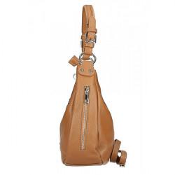 Kožená kabelka na rameno 210 Made in Italy čierna, Čierna #3