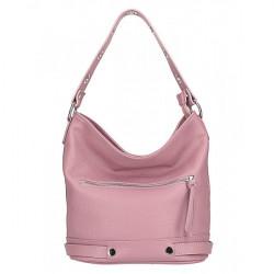 Kožená kabelka na rameno 220 Made in Italy ružová, Ružová