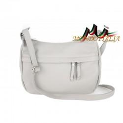 Kožená kabelka na rameno 392 šedá MADE IN ITALY
