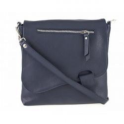 Kožená kabelka na rameno 485 Made in Italy modrá, Modrá