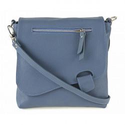 Kožená kabelka na rameno 485 Made in Italy nebesky modrá, Modrá