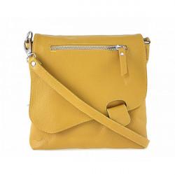 Kožená kabelka na rameno 485 Made in Italy okrová, Okrová