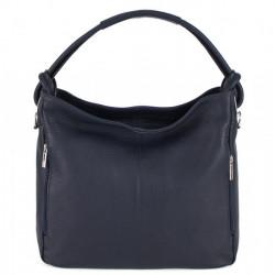 Kožená kabelka na rameno 499 tmavomodrá Made in Italy, Modrá