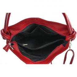 Kožená kabelka na rameno 499 tmavošedá Made in Italy, Šedá #1