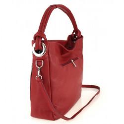 Kožená kabelka na rameno 499 tmavošedá Made in Italy, Šedá #2