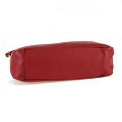 Kožená kabelka na rameno 499 tmavošedá Made in Italy, Šedá #3