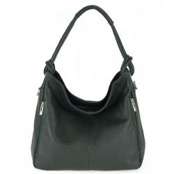 Kožená kabelka na rameno 499 tmavozelená Made in Italy, Zelená