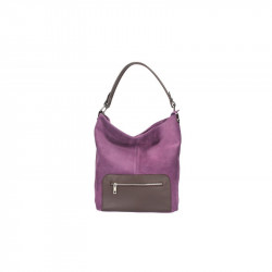 Kožená kabelka na rameno 5075 fialová, fialová