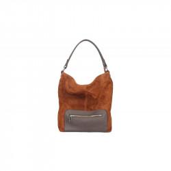 Kožená kabelka na rameno 5075 hnedá, hnedá