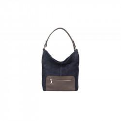 Kožená kabelka na rameno 5075 modrá, modrá