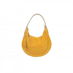 Kožená kabelka na rameno 5077 okrová MADE IN ITALY, okrová