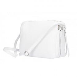 Kožená kabelka na rameno 517 biela, Biela