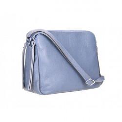Kožená kabelka na rameno 517 blankytna modrá Blankytna modrá