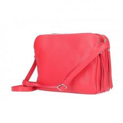 Kožená kabelka na rameno 517 červená Červená